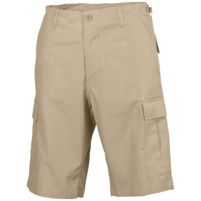 MFH US BDU Bermuda Shorts Ripstop Khaki
