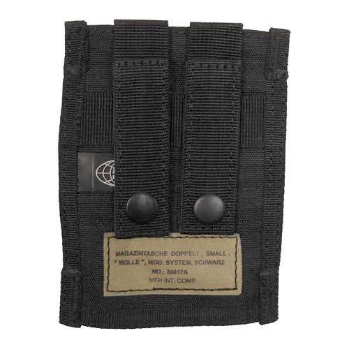 MFH Double 9mm Magazine Pouch Small MOLLE Black