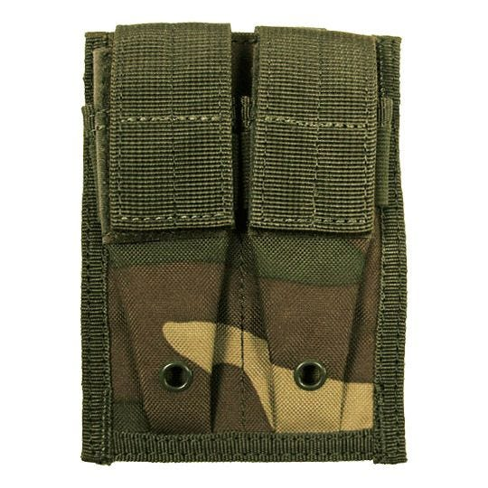 MFH Double 9mm Magazine Pouch Small MOLLE Woodland