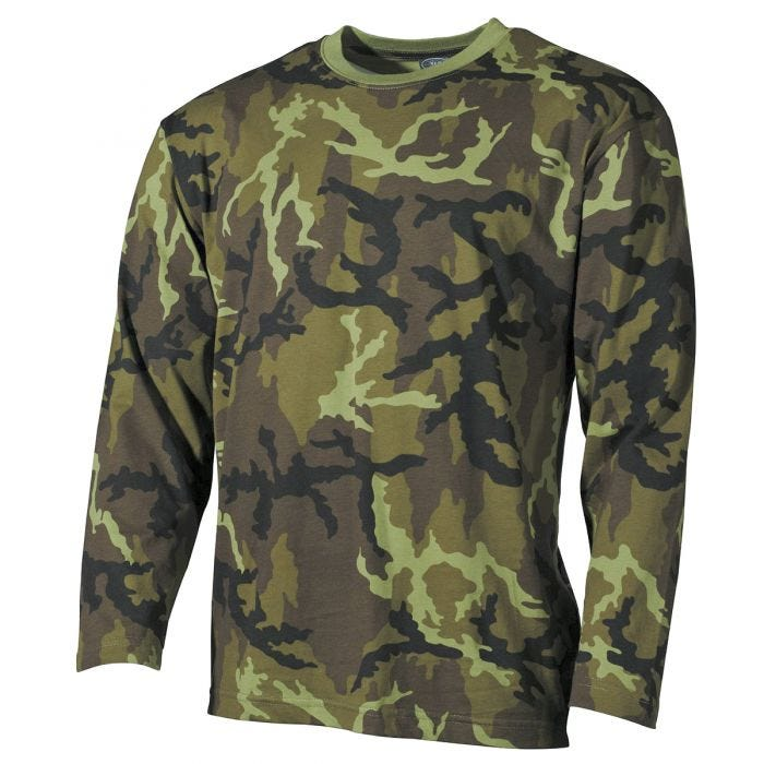 MFH Long Sleeved T-shirt Czech Woodland
