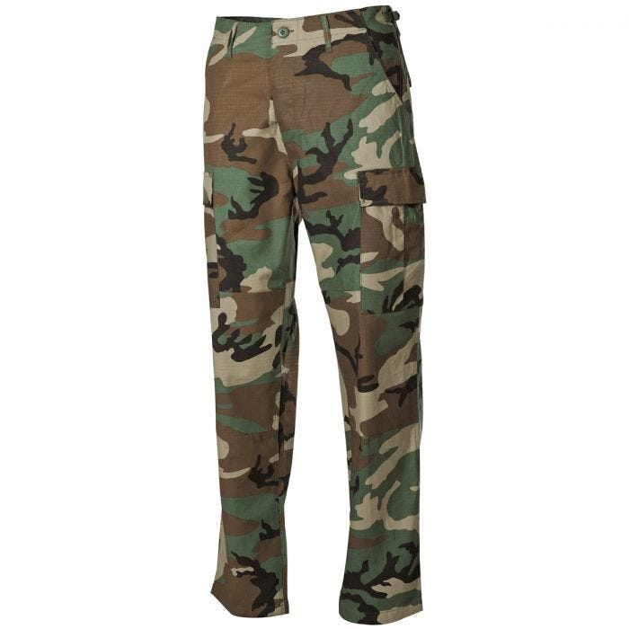 MFH BDU Combat Trousers Ripstop Woodland
