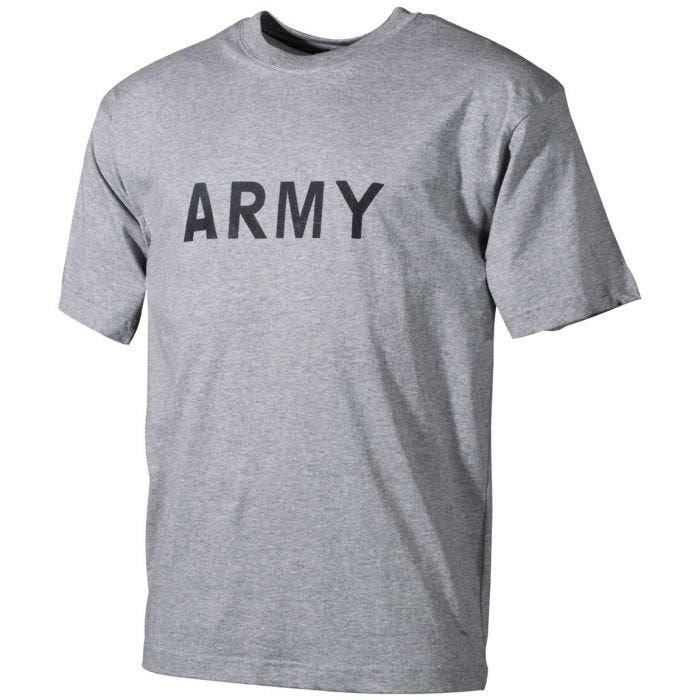 MFH T-shirt Gray with Army Print