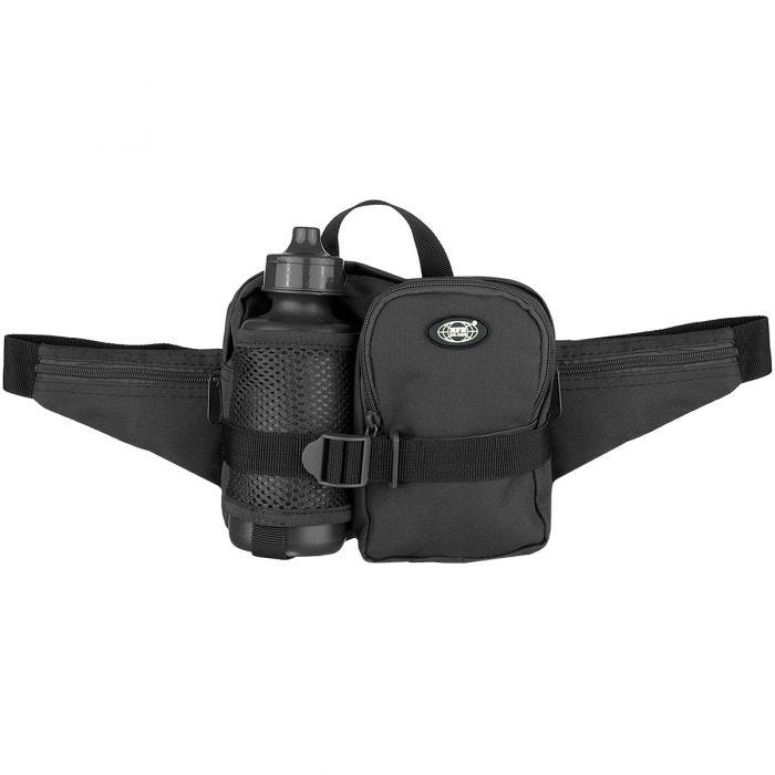 MFH Waist Bag with Bottle Black