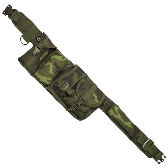 MFH Waist Belt 6 Pockets Czech Woodland