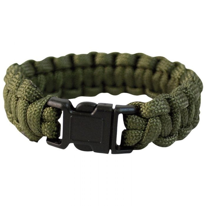 Mil-Tec Paracord Wrist Band 22mm Olive