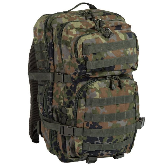 Mil-Tec MOLLE US Assault Pack Large Flecktarn