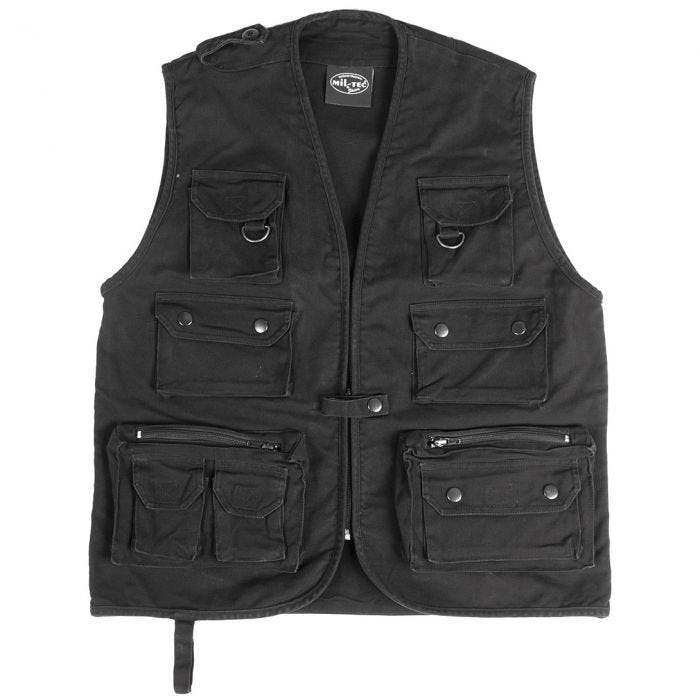 Moleskin Fishing Vest Black