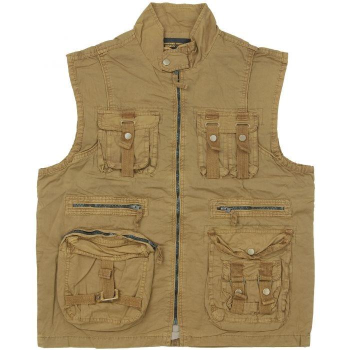 Mil-Tec Vintage Survival Vest Prewashed Coyote
