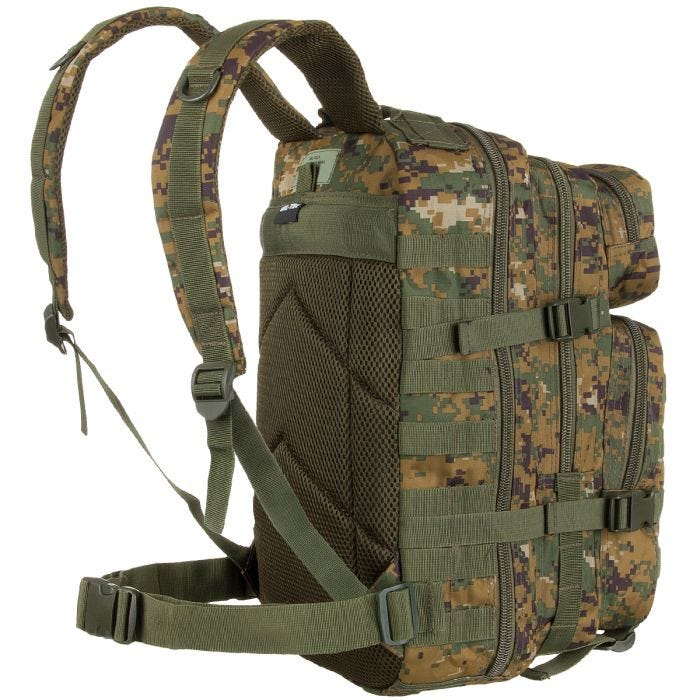 Mil-Tec MOLLE US Assault Pack Small Digital Woodland