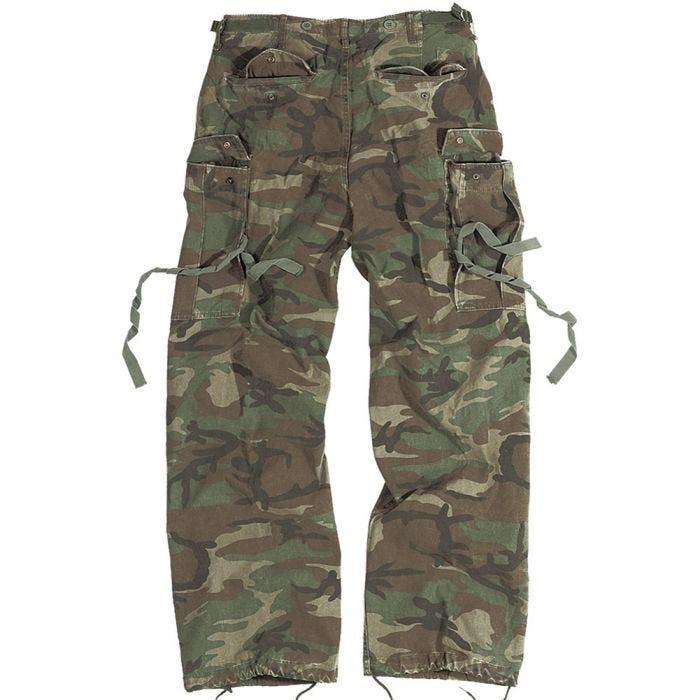 Surplus Vintage Fatigues Trousers Woodland