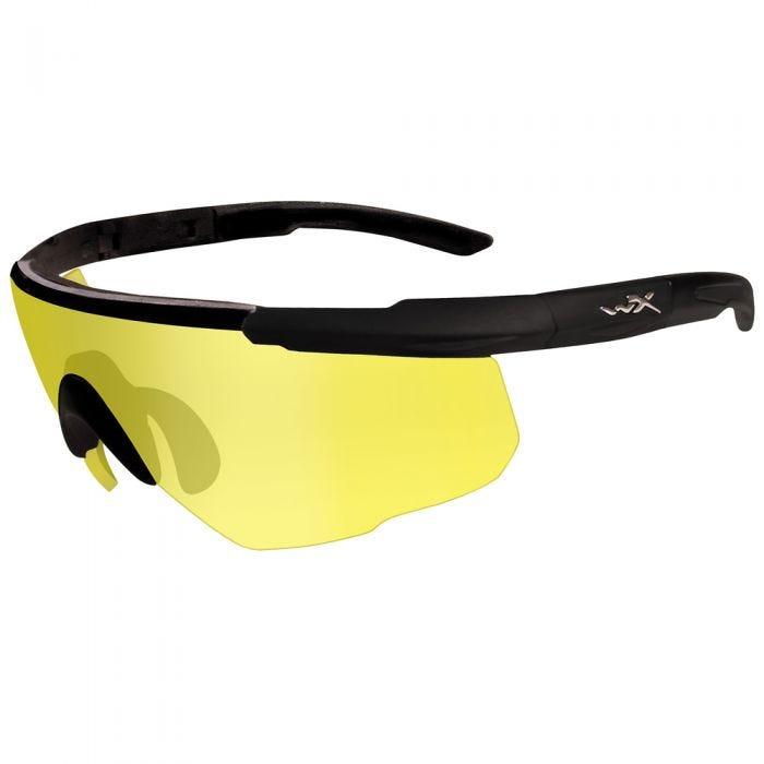 Wiley X Saber Advanced Glasses - Pale Yellow Lens / Matte Black Frame