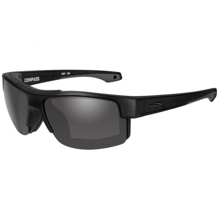 Wiley X WX Compass Glasses - Smoke Gray Lens / Matte Black Frame