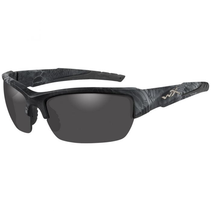 Wiley X WX Valor Polarized Glasses - Smoke Gray Lens / Kryptek Typhon Frame