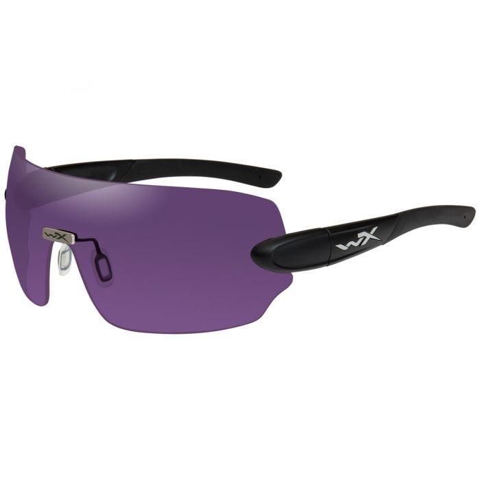 Wiley X WX Detection Glasses - Yellow + Orange + Purple Lens / Matte Black Frame