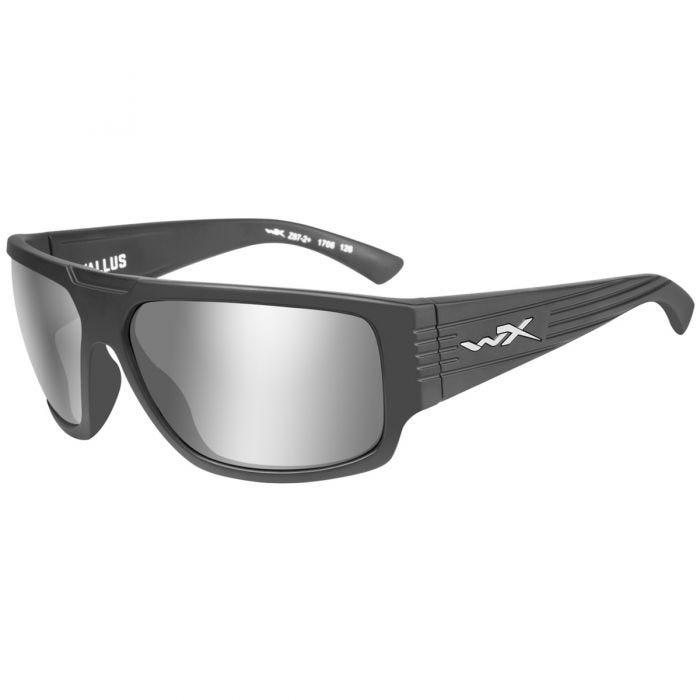 Wiley X WX Vallus Glasses - Gray Silver Flash Lens / Matte Graphite Frame