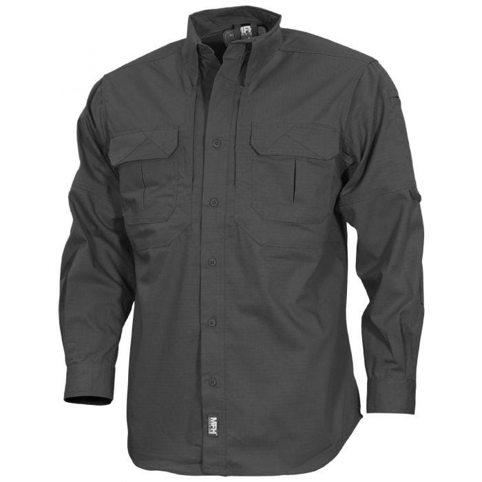 MFH Strike Tactical Shirt Long Sleeve Anthracite