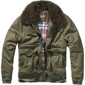 Brandit Perry Moleskin Winter Jacket Olive