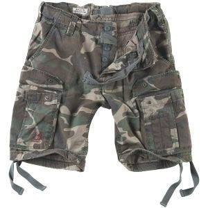 Surplus Airborne Vintage Shorts Washed Woodland