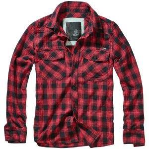Brandit Great Creek Check Shirt Red / Black Checkered