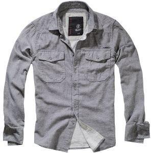 Brandit Tweedoptic Shirt Gray / Off-White