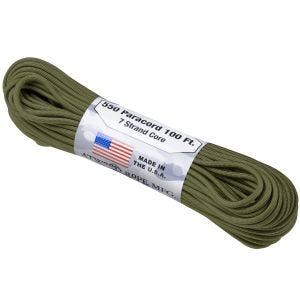 Atwood Rope 550 Lbs. Para Cord Olive Green
