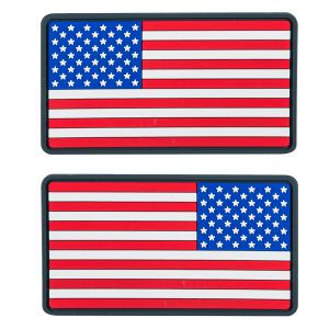 Helikon Large USA Flag PVC Patch (Pack of 2) True Colours