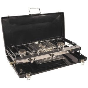 Highlander Folding Double Burner and Grill