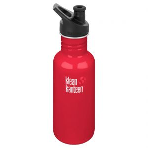 Klean Kanteen Classic 532ml Bottle with Sport Cap 3.0 Mineral Red