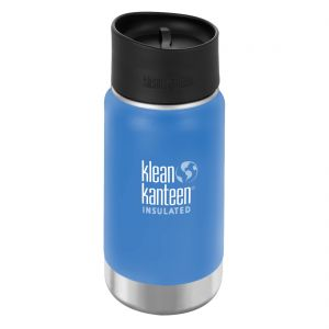 Klean Kanteen Wide Mouth Insulated 355ml Bottle Cafe Cap 2.0 Pacific Sky
