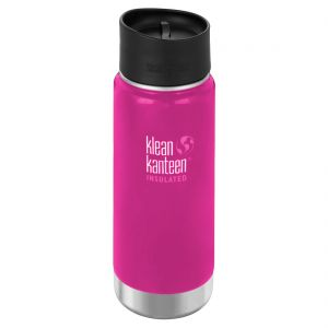 Klean Kanteen Wide Mouth Insulated 473ml Bottle Cafe Cap 2.0 Wild Orchid