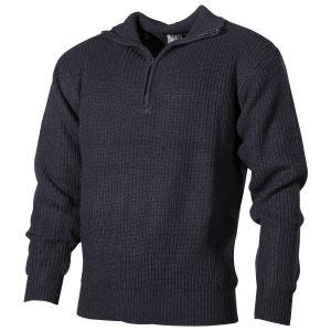MFH Navy Sweater Acrylic Navy Blue