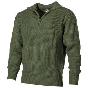 MFH Navy Sweater Acrylic OD Green