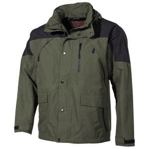 Fox Outdoor High Mountain Rain Jacket Black/Green