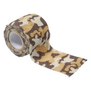 MFH Fabric Self Adhesive Camo Tape 5cm x 4.5m Desert