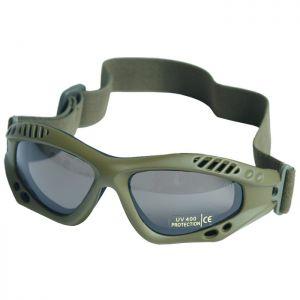 Mil-Tec Commando Goggles Air Pro Smoke Lens Olive Frame