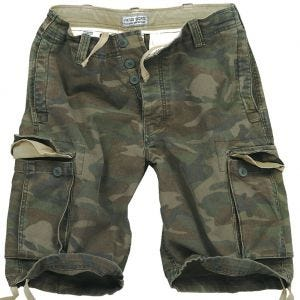 Surplus Vintage Shorts Washed Woodland