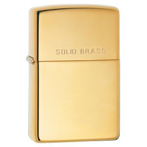 Zippo High Polish Brass Engraved Lighter