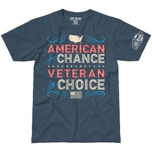 7.62 Design Veteran By Choice American T-Shirt Indigo