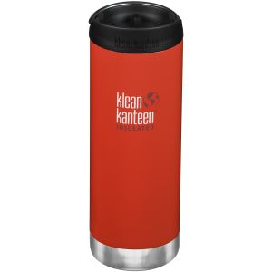Klean Kanteen TKWide 473ml Insulated Bottle Cafe Cap Post Box Red