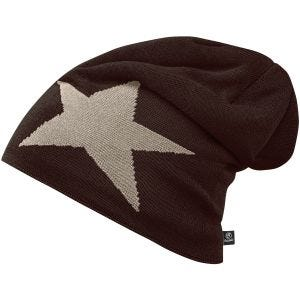 Brandit Beanie Star Cap Chocolate