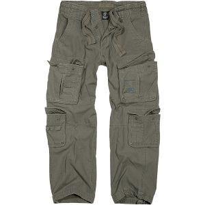 Brandit Pure Vintage Trousers Olive