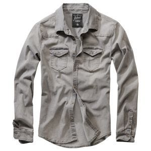 Brandit Riley Denim Shirt Gray Denim