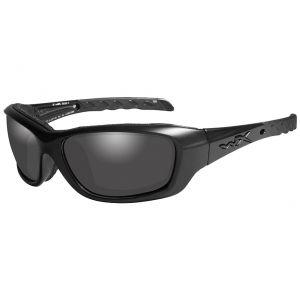 Wiley X WX Gravity Glasses - Smoke Gray Lens / Black Ops Matte Black Frame