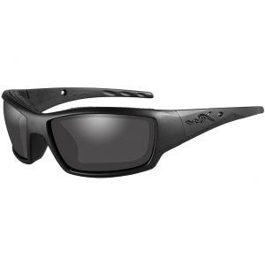 Wiley X WX Tide Glasses - Smoke Gray Lens / Black Ops Matte Black Frame
