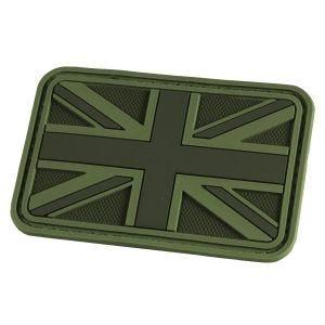 Hazard 4 3D Union Jack UK Flag Morale Patch OD Green