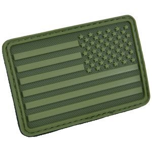 Hazard 4 USA Flag Right Arm Morale Patch Olive Green
