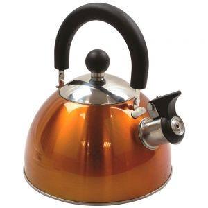 Highlander Deluxe Stainless Steel Whistling Kettle Orange