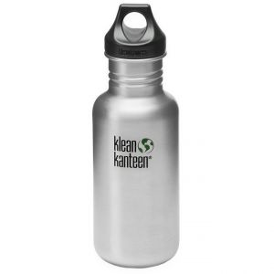 Klean Kanteen Classic 532ml Bottle with Loop Cap Brushed Stainless