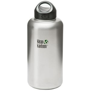 Klean Kanteen Wide Mouth 1893ml Bottle with Loop Cap Brushed Stainless