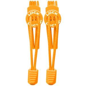 Lock Laces Elastic No Tie Shoelaces Orange